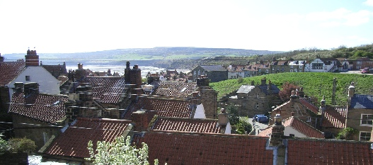 Panorama of Robin Hoods Bay from Rosings
